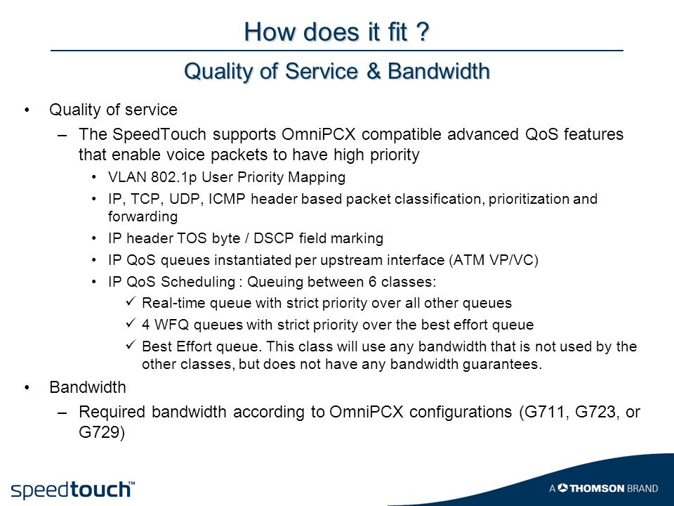 Quality of Service & Bandwidth