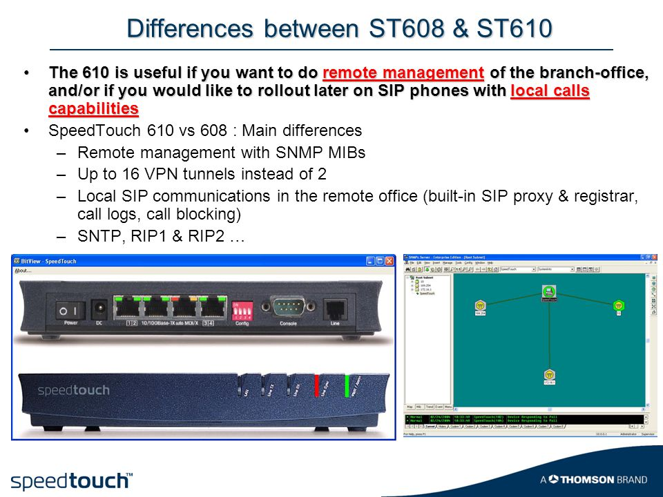 Differences between ST608 & ST610