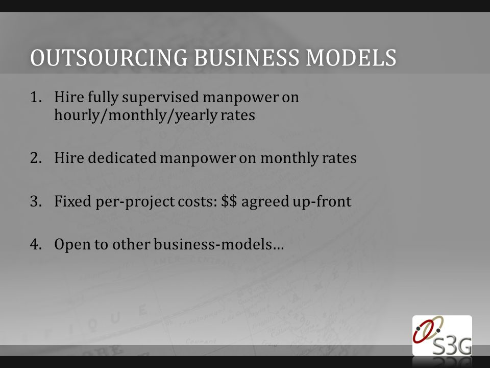 Outsourcing Business models