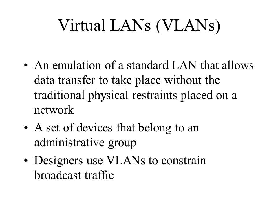 Virtual LANs (VLANs)