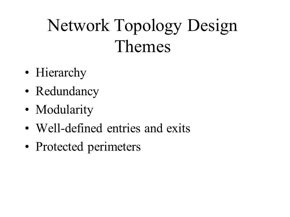 Network Topology Design Themes
