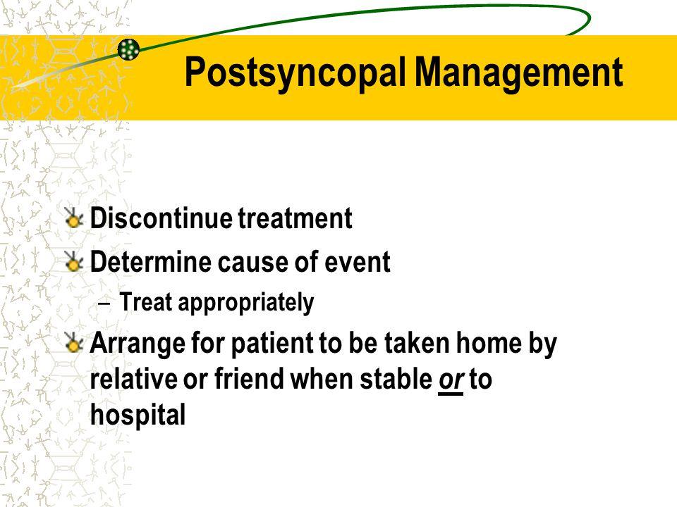 Postsyncopal Management