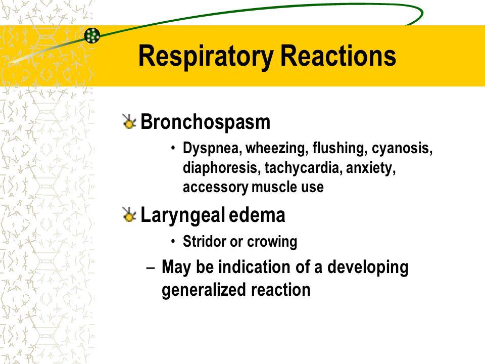 Respiratory Reactions