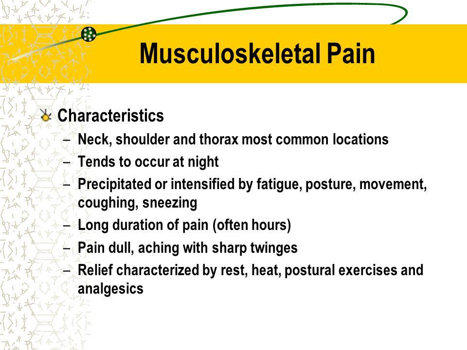 Musculoskeletal Pain Characteristics