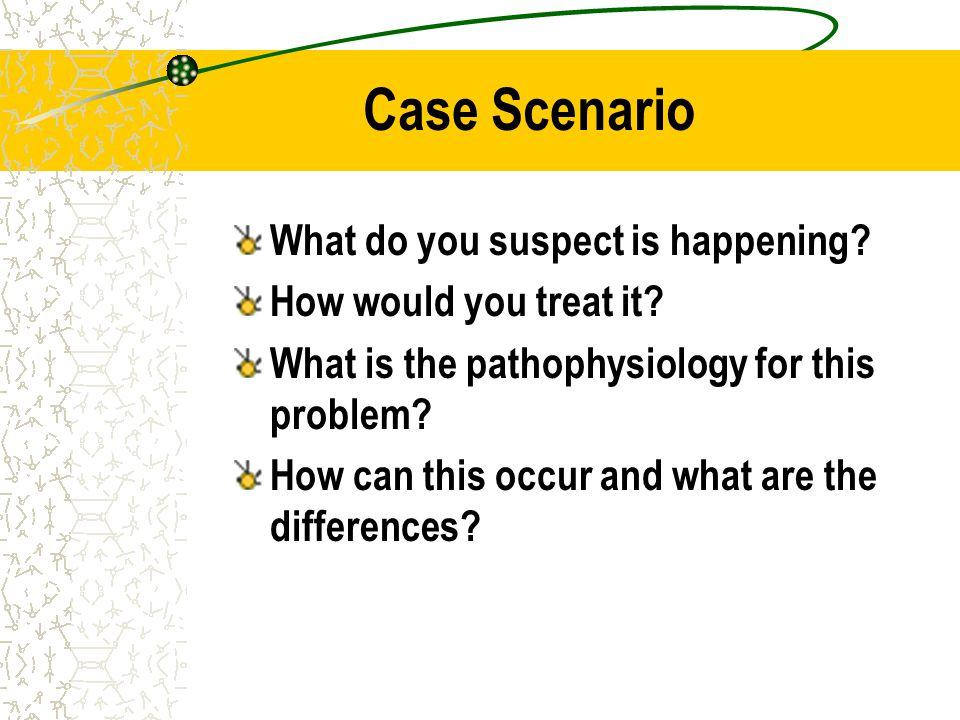 Case Scenario What do you suspect is happening