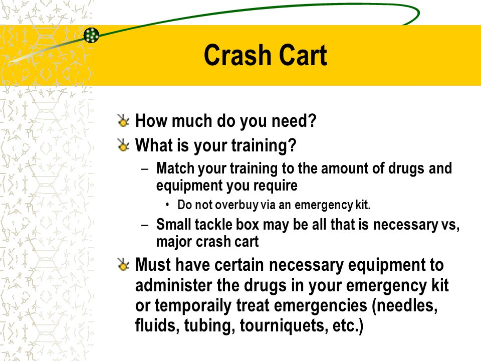 Crash Cart How much do you need What is your training