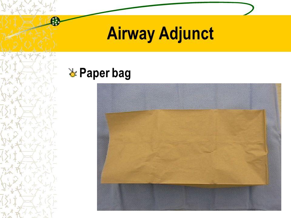 Airway Adjunct Paper bag