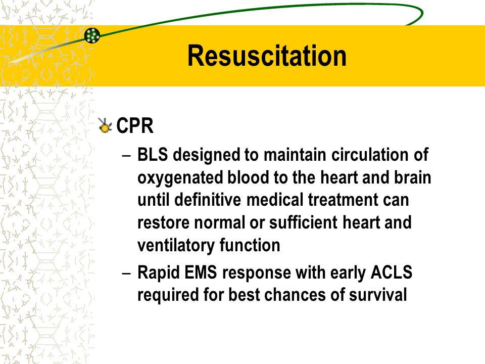 Resuscitation CPR.