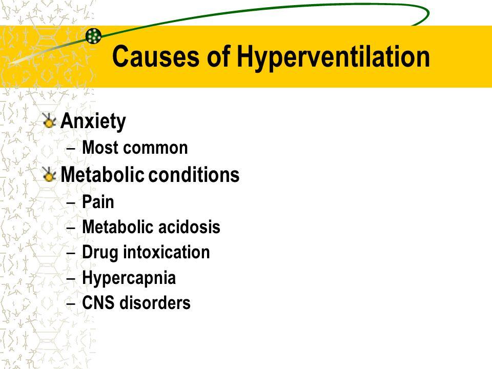 Causes of Hyperventilation