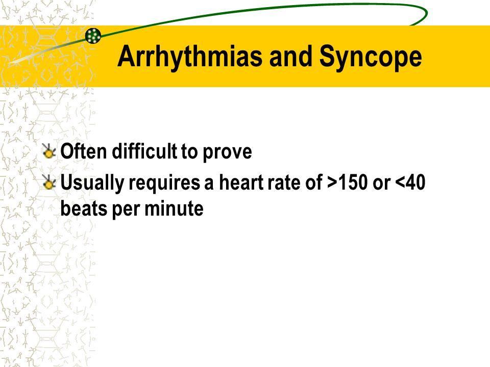 Arrhythmias and Syncope