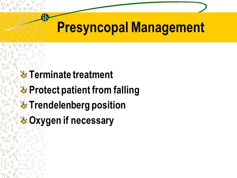 Presyncopal Management
