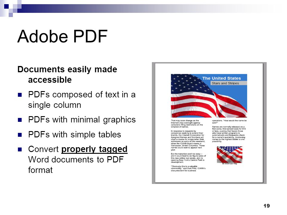 Adobe PDF Documents easily made accessible