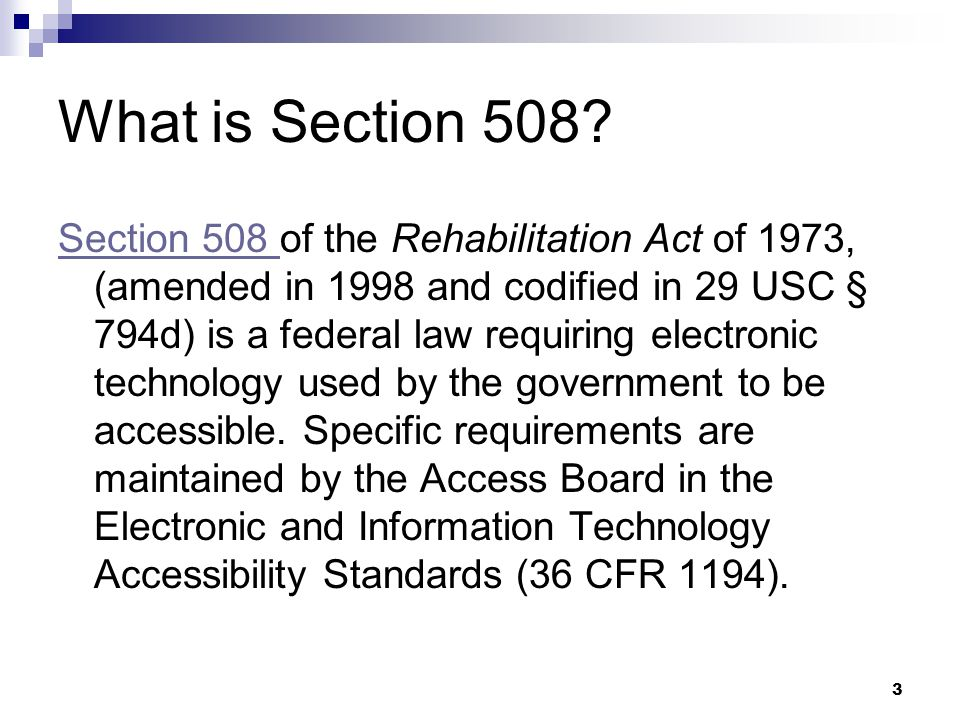 What is Section 508