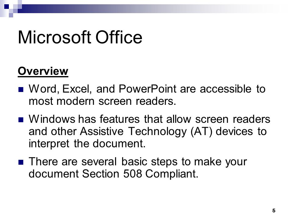 Microsoft Office Overview