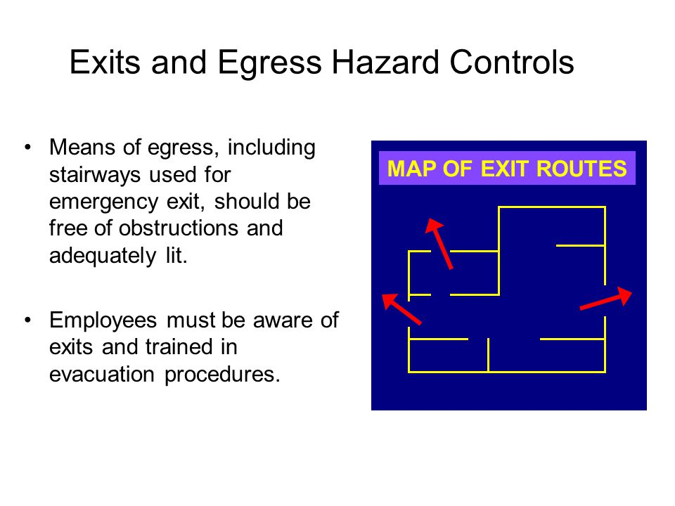 Exits and Egress Hazard Controls