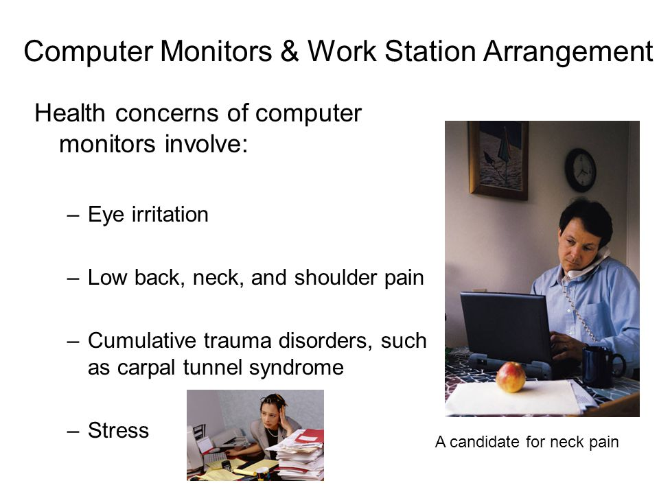 Computer Monitors & Work Station Arrangement