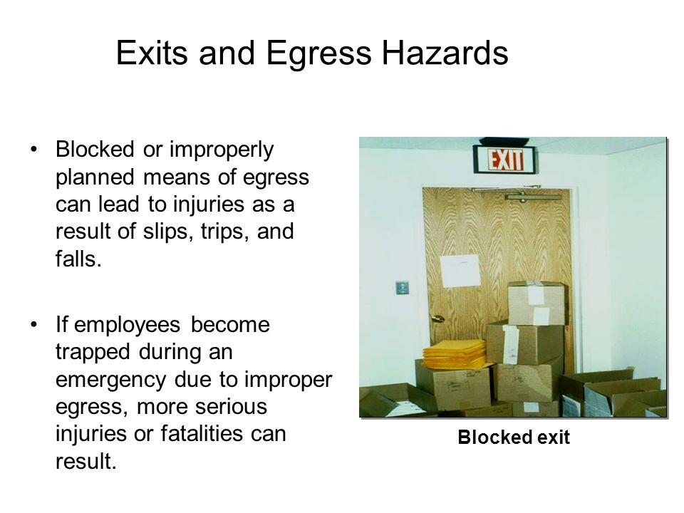Exits and Egress Hazards