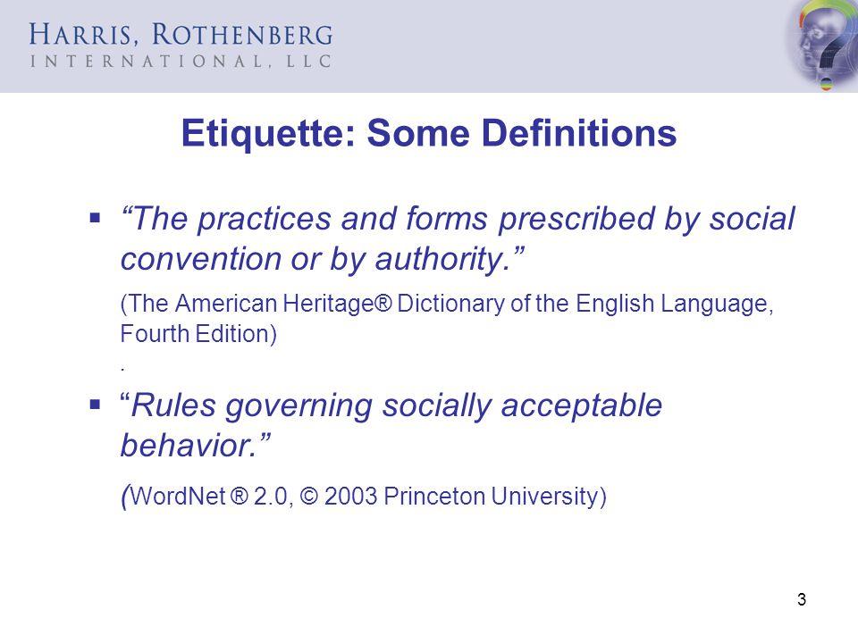 Etiquette: Some Definitions