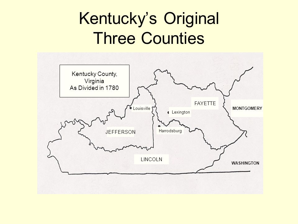 Kentucky's Original Three Counties