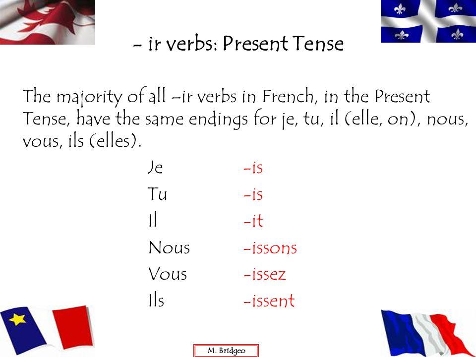 - ir verbs: Present Tense