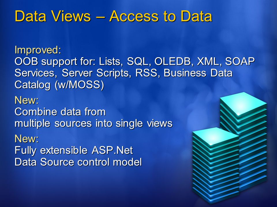 Data Views – Access to Data