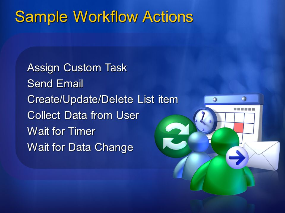 Sample Workflow Actions