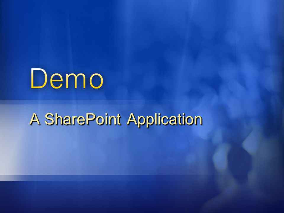 A SharePoint Application