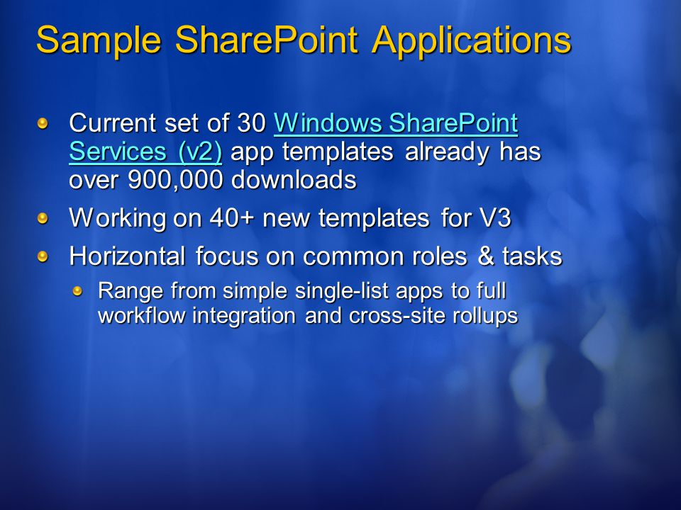 Sample SharePoint Applications