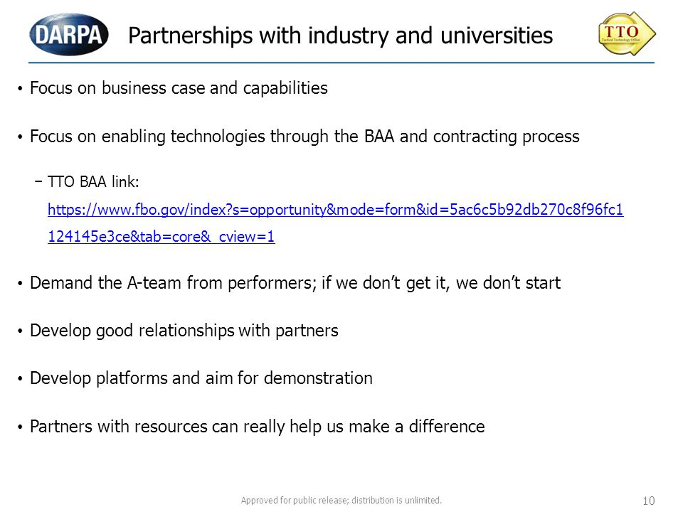 Partnerships with industry and universities