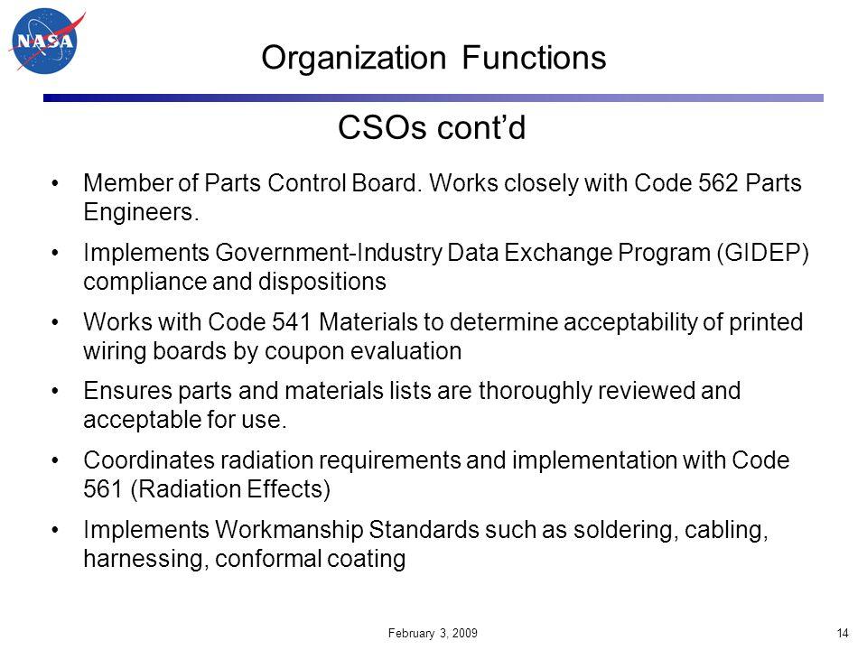 Organization Functions