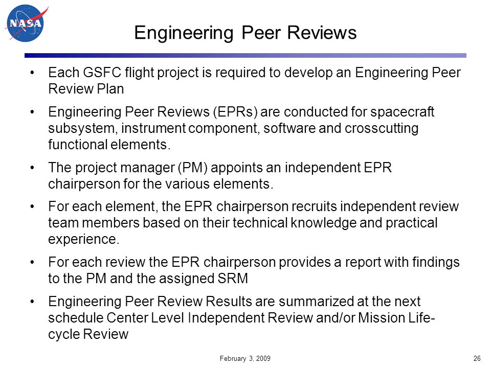 Engineering Peer Reviews