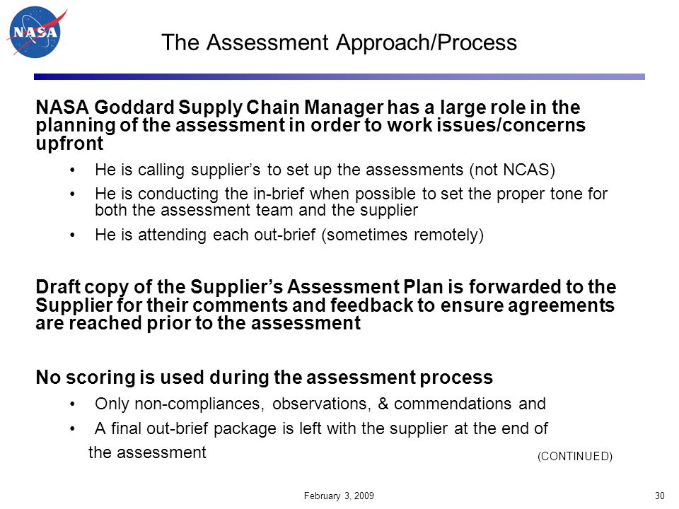 The Assessment Approach/Process
