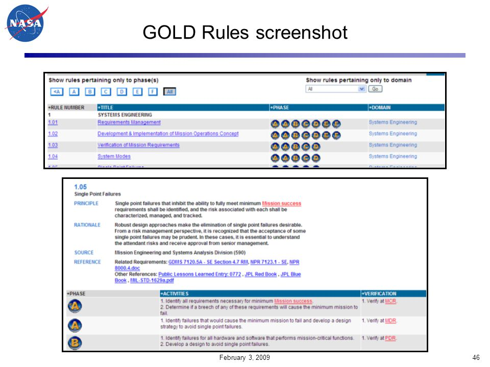 GOLD Rules screenshot February 3, 2009