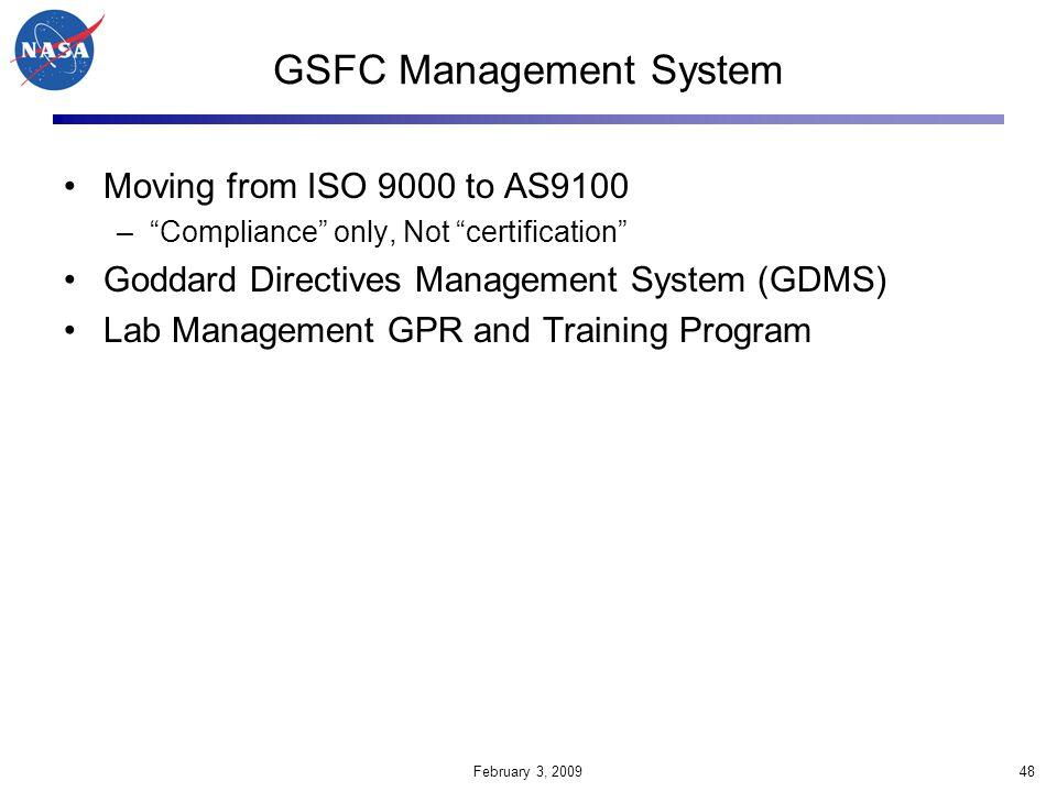 GSFC Management System