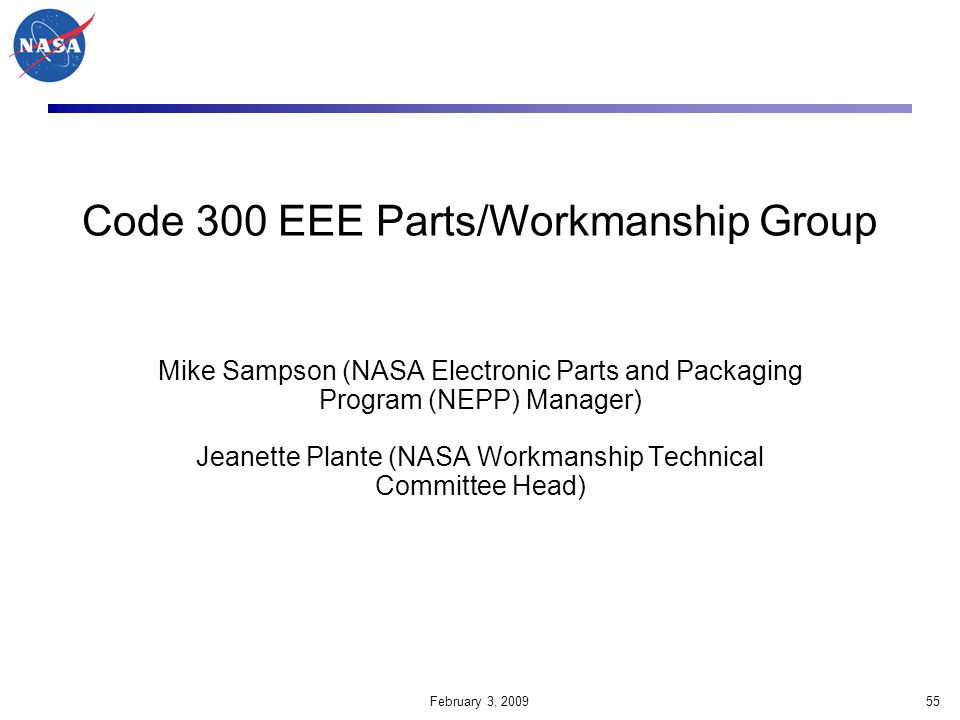 Code 300 EEE Parts/Workmanship Group