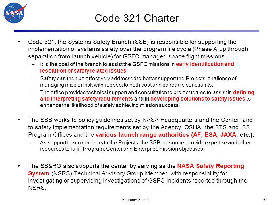 Code 321 Charter