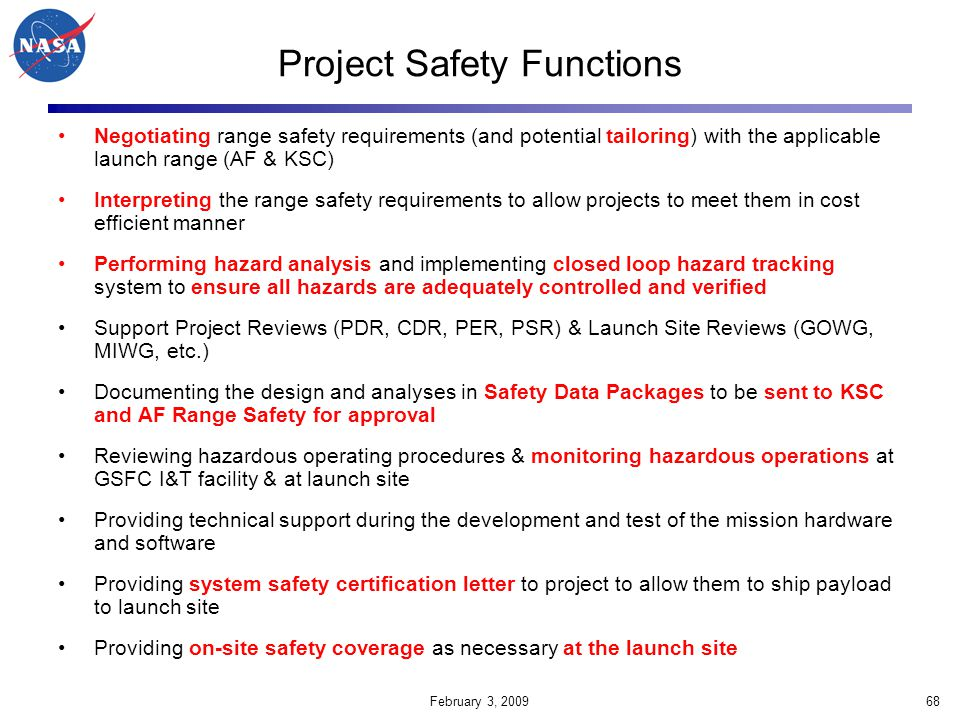 Project Safety Functions