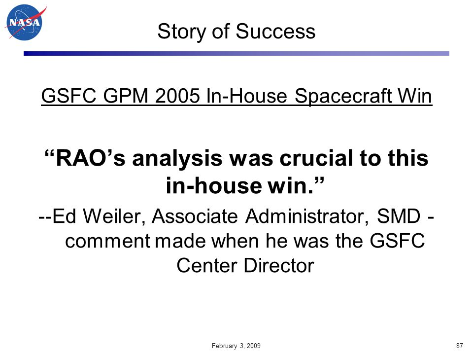 RAO's analysis was crucial to this in-house win.