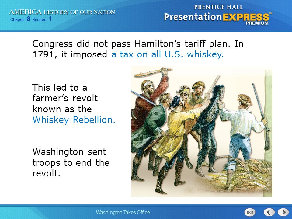 Congress did not pass Hamilton's tariff plan