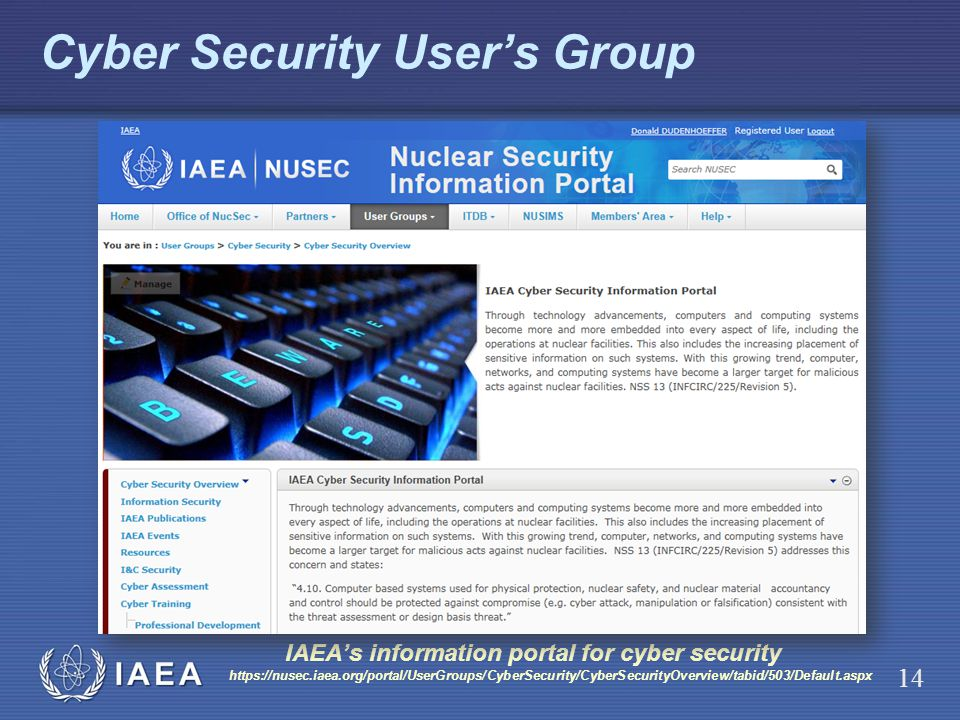 Cyber Security User's Group