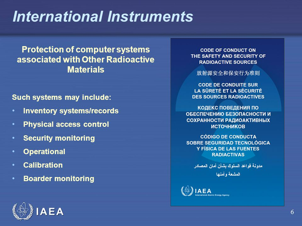 International Instruments
