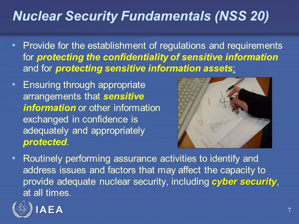 Nuclear Security Fundamentals (NSS 20)