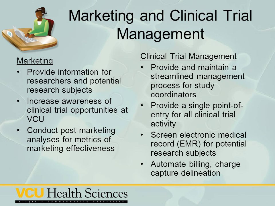 Marketing and Clinical Trial Management