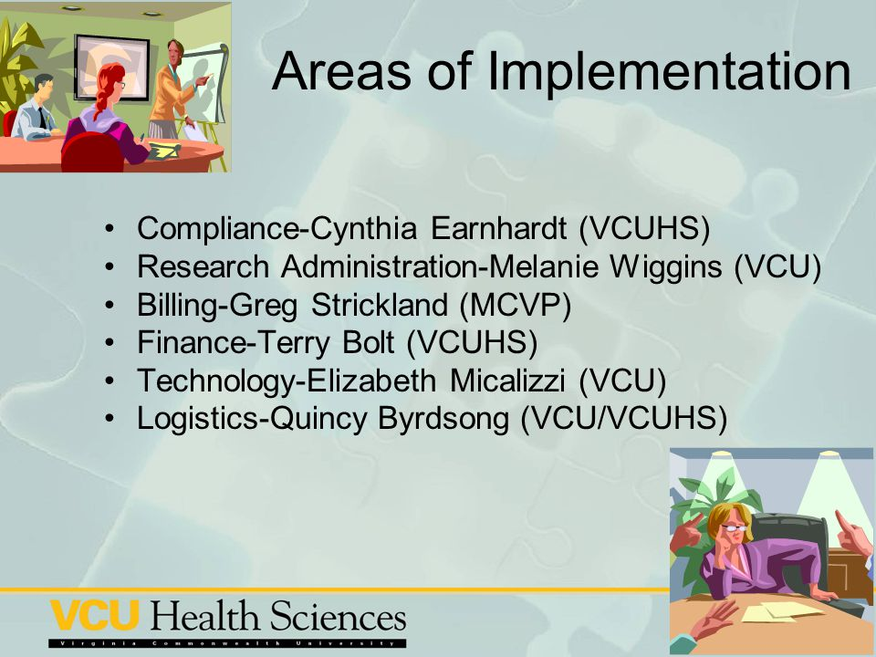 Areas of Implementation