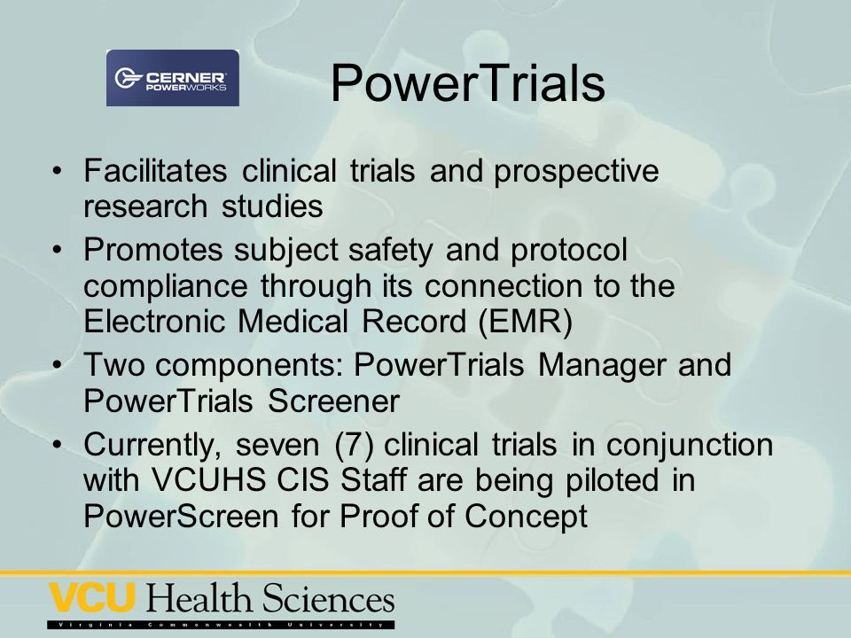 PowerTrials Facilitates clinical trials and prospective research studies.