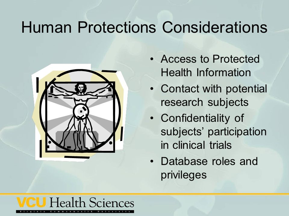 Human Protections Considerations