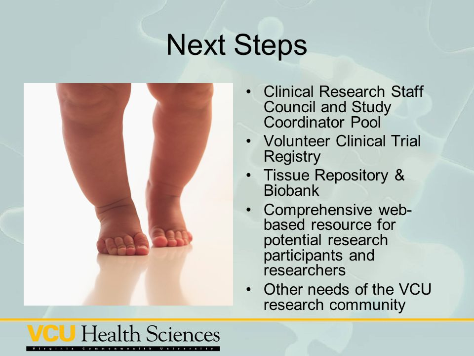 Next Steps Clinical Research Staff Council and Study Coordinator Pool