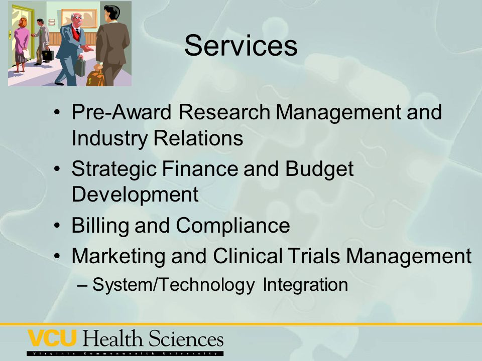 Services Pre-Award Research Management and Industry Relations