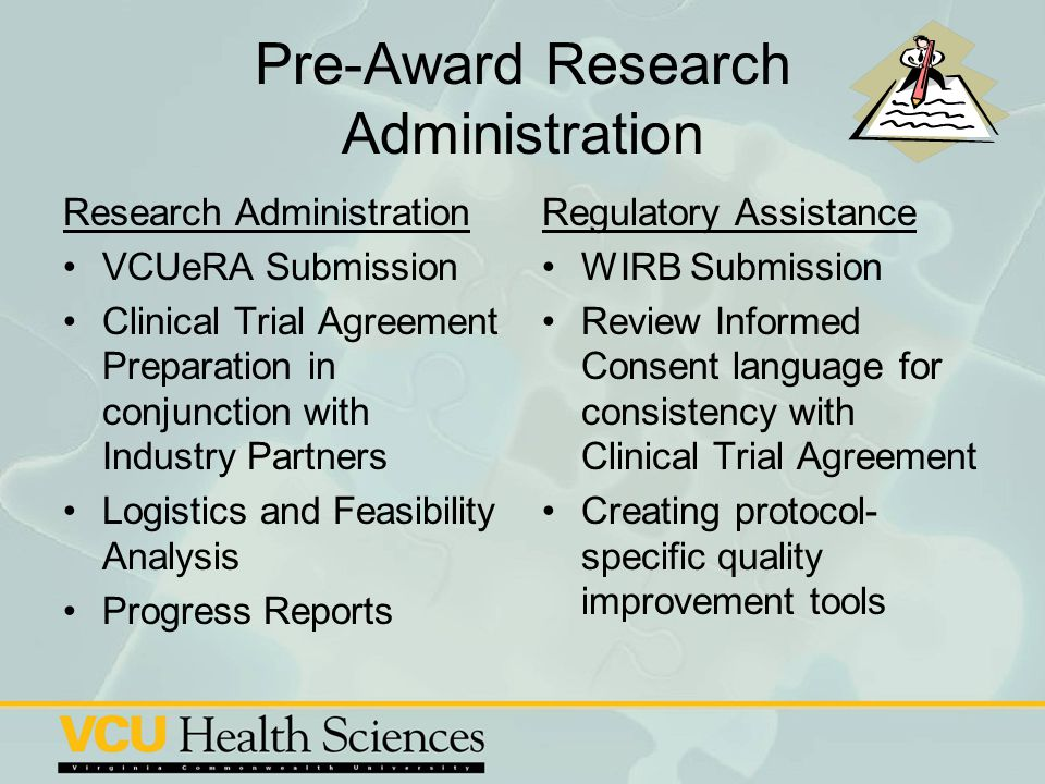 Pre-Award Research Administration