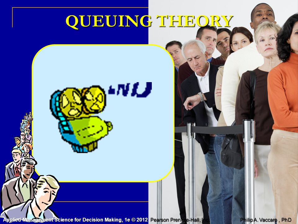 QUEUING THEORY Applied Management Science for Decision Making, 1e © 2012 Pearson Prentice-Hall, Inc.